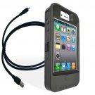 Apple iPhone 4& 4S Graphite OtterBox OEM Defender iON Intelligence Case Battery