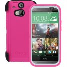 HTC One M8 Otterbox Defender Series Case & Holster Neon Rose