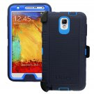 New Otterbox Defender Case with Belt Clip Holster for Galaxy Note 3 - Blue