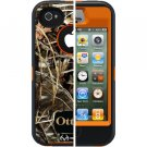 Orange  Max 4HD Blazed Real Tree Camo Defender Case for Apple iPhone 4  4S