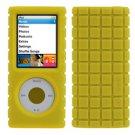 New Yellow PixelSkin Rubberized Case for Apple iPod Nano 4G