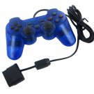 BLUE PS2 Shock Controller (Sony PlayStation 2) Dual Vibration Gamepad