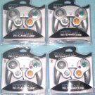 Lot of 4 Brand New Controllers for Nintendo GameCube or Wii -- PLATINUM SILVER