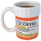 NEW Prescription Mug Pill Bottle Coffee Cup Pharmacy 12 oz. Rx - Big Mouth Toys