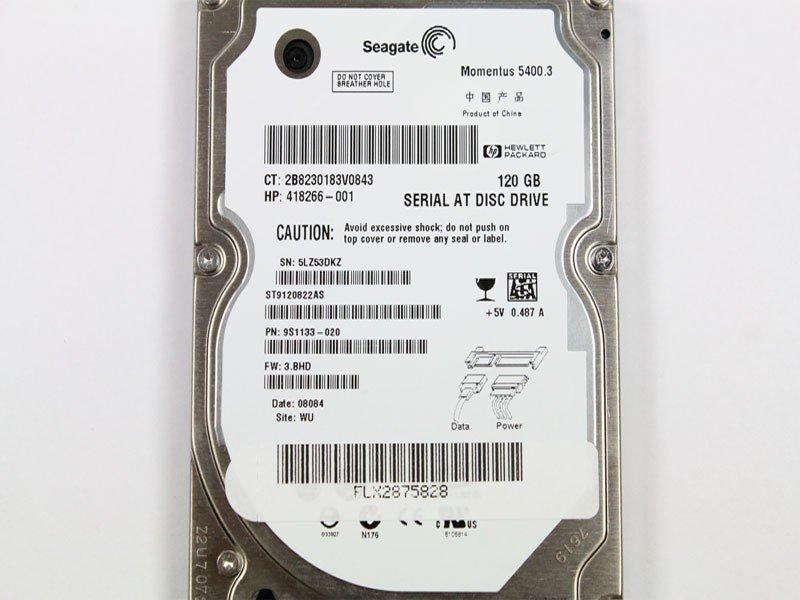 """SEAGATE MOMENTUS 5400 120 GB 2.5""""SATA INTERNAL HDD"""
