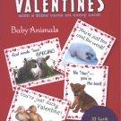 NEW BABY ANIMALS ST VALENTINE'S DAY CARD SET School Kids 32 Pcs Children's Saint Valentine Holiday