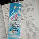 NEW GOLDTONE ANGEL PIN & BOOKMARK SET Angel for your shoulder to watch over you in peace & love