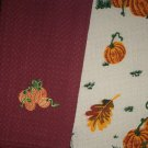 AUTUMN PUMPKINS Kitchen Hand Towel Set 2 FALL Holiday Thanksgiving Day DISH TOWELS