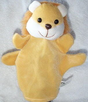 SOFT PUPPET ANIMAL PUPPET LION/LOINESS CHLIDREN'S Furry Velour Kids Theater Play Hand Toy