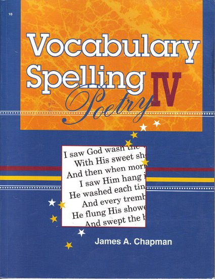 A BEKA VOCABULARY SPELLING POETRY IV Student Book & Quiz Booket w/Teacher's Keys 10 Grade