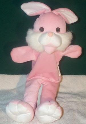 PINK & WHITE BUNNY PUPPET NEW Theater Acting Children's Rabbit Full Whole Body Hand Toy
