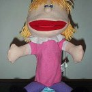 BLONDE GIRL PUPPET with Pigtails & Whole Body Kids WOMAN THEATER Children's Hand Toy