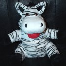 "BLACK & WHITE ZEBRA PUPPET CHILDREN'S 10"" Zoo/Jungle Kids LARGE SAFARI Animal Hand Toy"