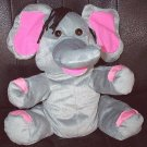 "PLUSH GRAY ELEPHANT PUPPET CHILDREN'S 10"" Zoo/Jungle Kids LARGE GREY SAFARI Animal Hand Toy"