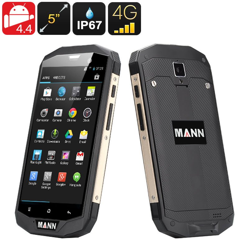 MANN ZUG 5S 4G Smartphone - 5 Inch HD 1280x720 screen, Qualcomm MSM8926 Quad Core CPU (Golden)
