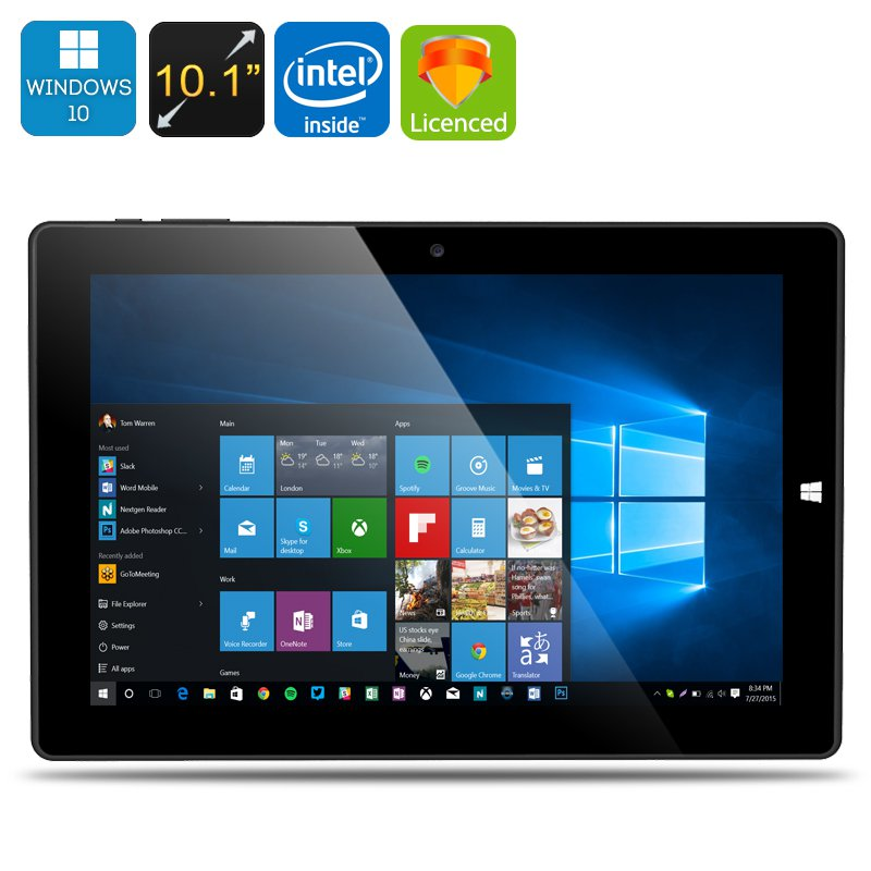 Chuwi Hi10 Ultrabook Tablet PC - Licensed Windows 10 + Android 5.1, 64Bit CPU, 4GB RAM, 64GB Storage