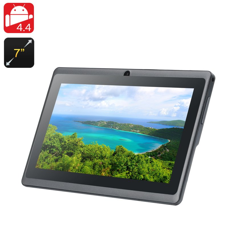 7 Inch Android 4.4 Tablet 'Eta' - Quad Core A33 CPU, Mali-400 GPU, 8GB Internal Memory, OTG (Black)