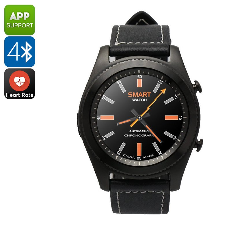 No.1 S9 Smart Watch - Bluetooth, Call Answer, Pedometer, Heart Rate, Sedentary reminder, 380mAh