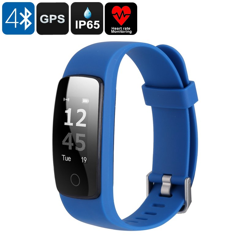 Bluetooth Fitness Band - Bluetooth 4.0, 0.96 Inch OLED Display, IP65, Heart Rate Monitor
