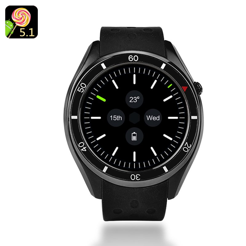 IQI I3 Android Smartwatch - 1.39-Inch Display, 4GB Memory, Quad-Core CPU, Google Play, 3G, Pedometer