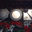 vintage wall mirror decor black silver lace design Wisniewski Lorenzatti