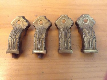 Antique light fixture parts 4 arms brass ornate chandelier replacement