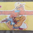 vintage gift wrap boys cowboy birthday gift happy wraps die cut
