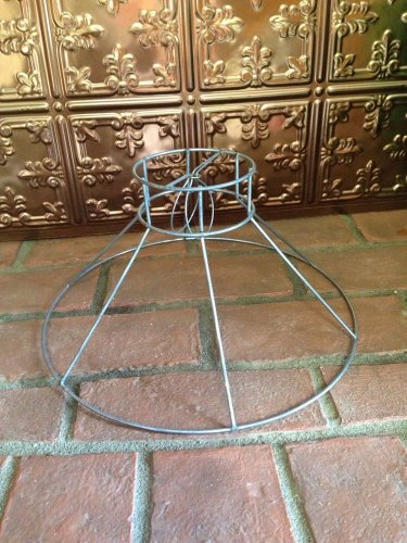 Tiffany/Victorian/arts crafts shaped clip on lamp shade replacement frame