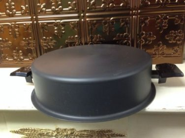 "Westbend miracle maid domed dutch oven replacement lid fry pan 11.25"" black"