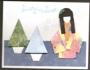 Set of 2 Blue Christmas Cards