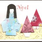 Set of 2 Red Christmas Cards