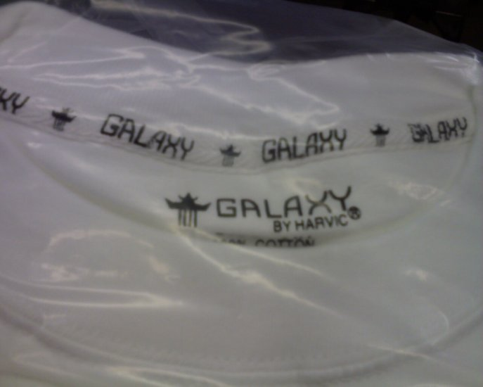 12 ps Galaxy By Harvic Heavyweight - L-Tall - S/S - White t-shirts