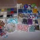 craft beads lot glass acrylic pastic wood all sorts