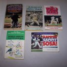 baseball paperback book lot sammy sosa mickey mantle