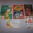 football paperback book lot ny giants 49rs