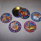 camel coasters rjrtc 1994 metal tin set of 4