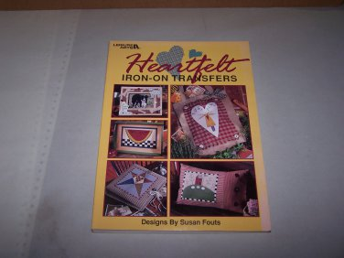 heartfelt leisure arts iron on transfer book 1998 susan fouts