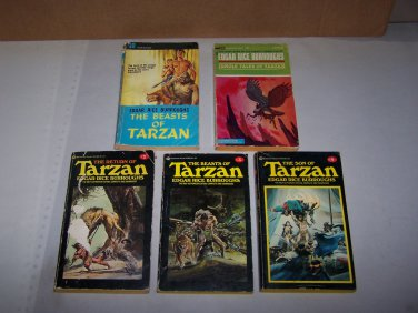 tarzan paperback book lot returnof beastsof son of and jungle tales