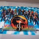 mortal kombat 4 video game adv poster
