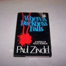 when a darkness falls paul zindel 1984 hc book with jacket