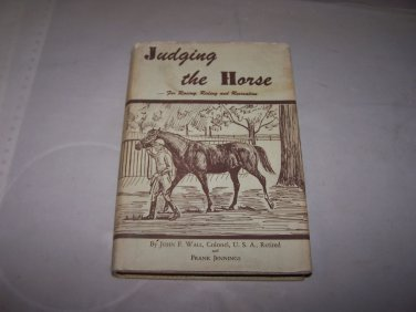 judging the horse frank jennings hc book with jacket 1955 autographed