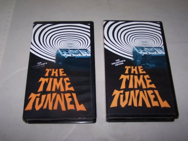 time tunnel lot of two vhs tapes one way to the moon last patrol crack of doom