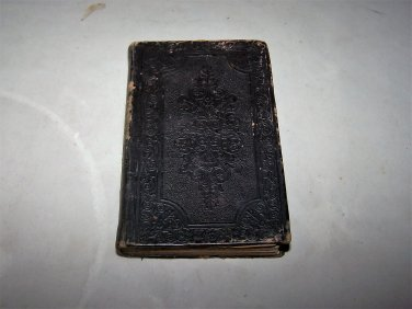 vintage bible 1851 embossed cover