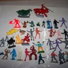 plastic figures lot moon men army men knights all sorts