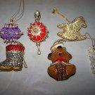 ornament lot bear rocking horse