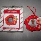 house of lloyd 1998 christmas around the world poinsettia frame ornament