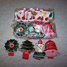 sequined fabric napkin rings christmas lot of 12