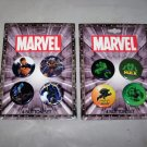 marvel buttons hulk and xmen on cards 2003