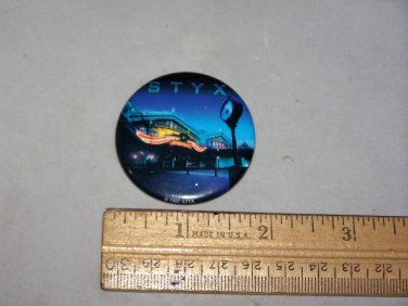 styx return to paradise  1997 button