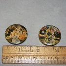 iron maiden buttons lot of 2 buttons